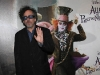 Tim Burton alla premiere di Alice in Wonderland